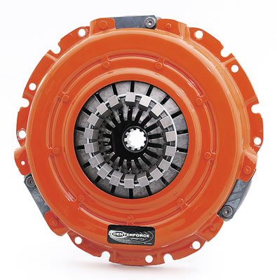 Manual transmissions require a clutch, like this one from Centerforce. Shifts are slower than with an automatic, but there is less power loss through slippage.