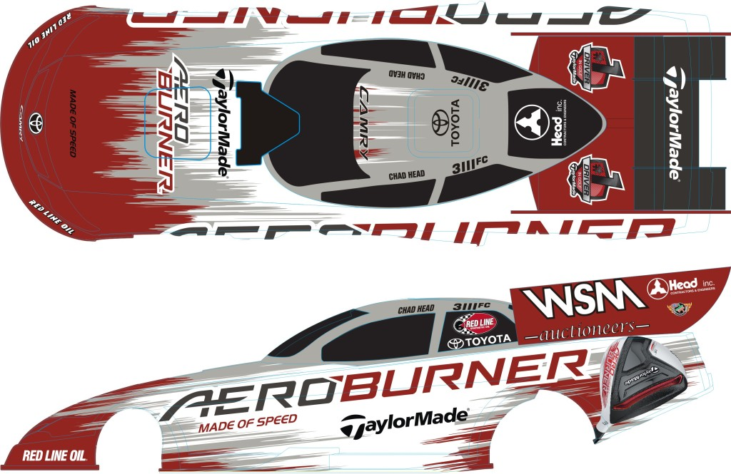 Chad Head's new look Aeroburner car comes after teaming  up with new sponsor TaylorMade.