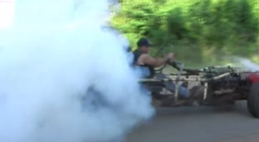 [VIDEO] Hillbilly Go-Kart Powered by a Olds V-8
