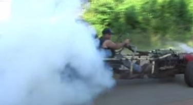 [VIDEO] Hillbilly Go-Kart Powered by a Olds V-8