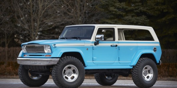 Jeep has created the new Chief Concept that is designed to deliver the beach bum or surfer to the perfect beach. It is based on the Wrangler, yet is inspired by 1970s era Cherokee, the Jeep Chief Concept is a throwback to the beach rides of yesteryear.