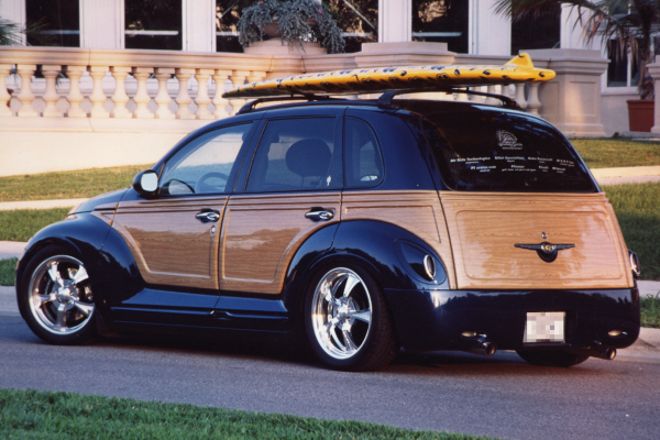 Woodies will always be king at the beach. The iconic outward appearance just screams beach life. You do have a couple of different options here. If you are worried that a vintage Woodie might be out of your price range, the recent offering that best fits the idea of a beach vehicle, was Chrysler's PT Cruiser Slap some wood trim around the perimeter, and the 50's are back.