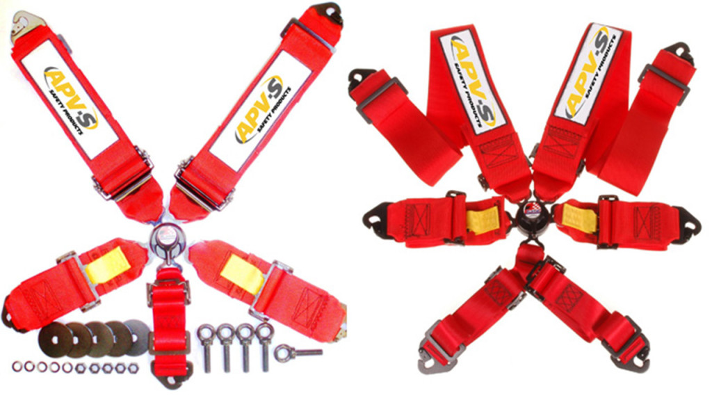 You may not need a racing harness, but I do recommend them.  Image credit: http://www.apvsafetyproducts.com