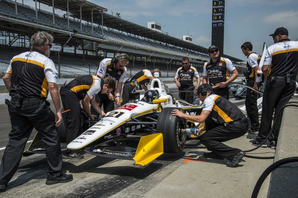 CHF Racing put Josef Newgarden and the Century 21 car back on track following a dramatic accident and flip during practice.