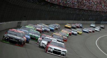 Stormy Skies Shorten NASCAR Quicken Loans 400