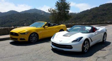 Corvette Stingray Convertible Versus Mustang GT Convertible