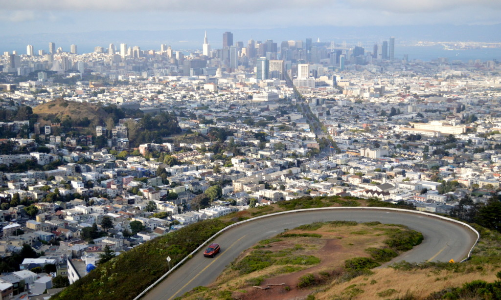 A view of San Francisco from Twin Peaks.