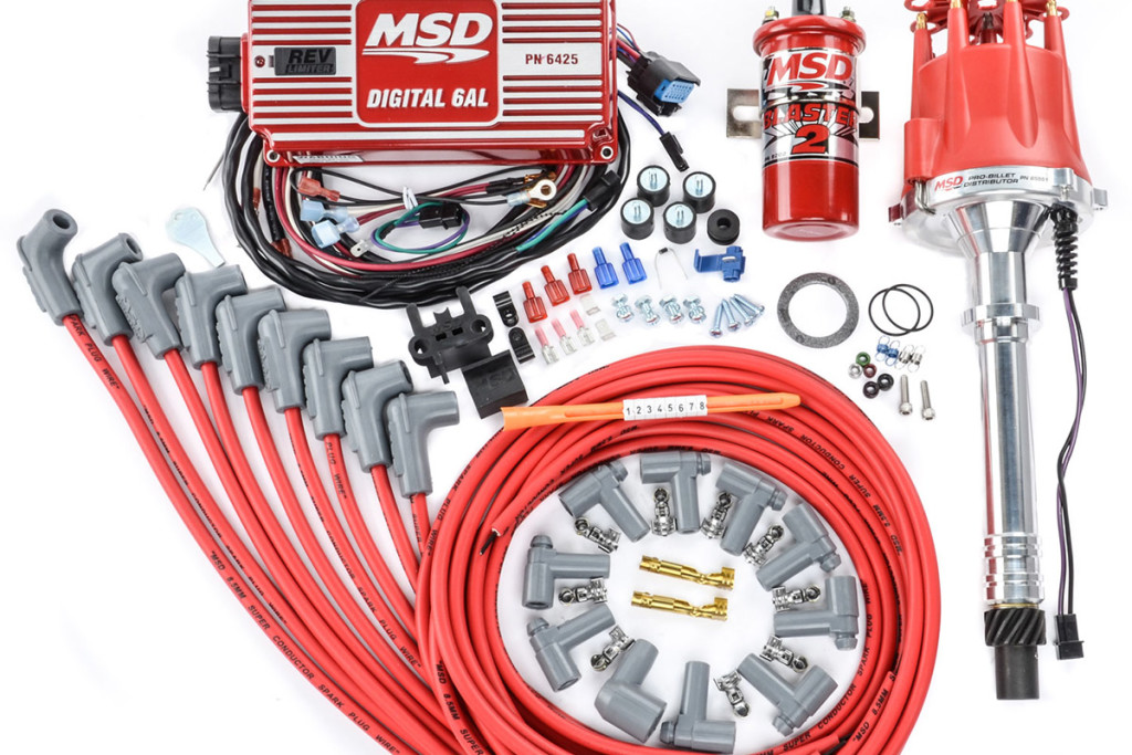 This is an aftermarket performance electronic ignition system from MSD. Installation/conversion of this is much more involved than a factory system.