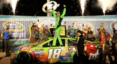 Busch Hunts Down Logano to Win Quaker State 400