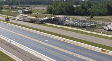 Home of Lucas Oil NHRA Nationals Damaged by Weather