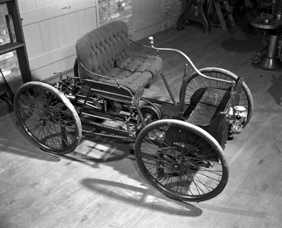 Ford's first invention, the Quadricycle.