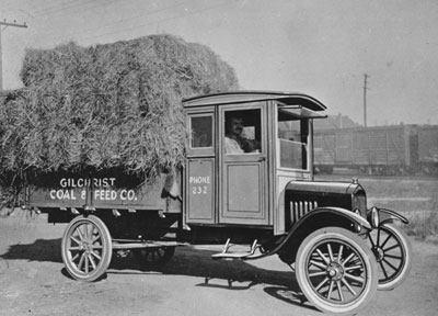 The first truck ever constructed, the Ford Model TT.