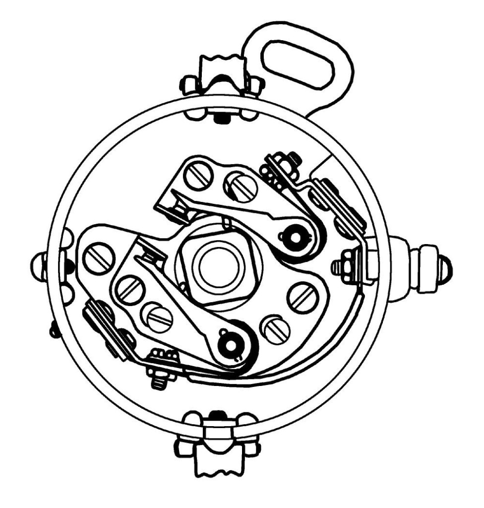 A drawing showing a high-performance dual point ignition system.