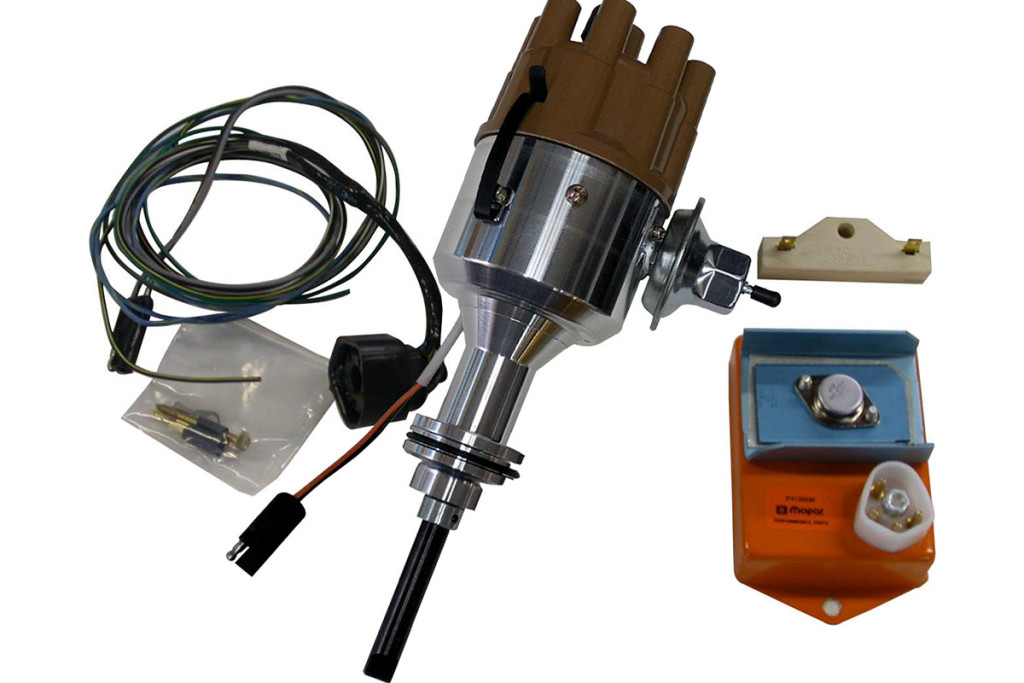 Mopar's Direct Connection performance electronic ignition conversion kit. Quick and easy power to go.