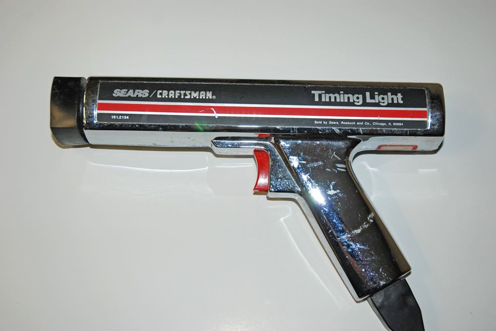 As we pointed out in the first segment, this vintage Sears timing light has proven to be accurate and reliable.
