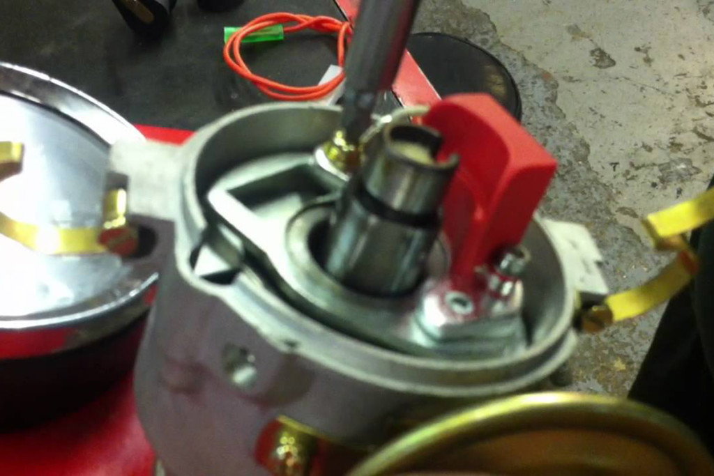 A conversion to electronic ignition can be as simple as removing the old points and installing a new magnetic pickup in the distributor.