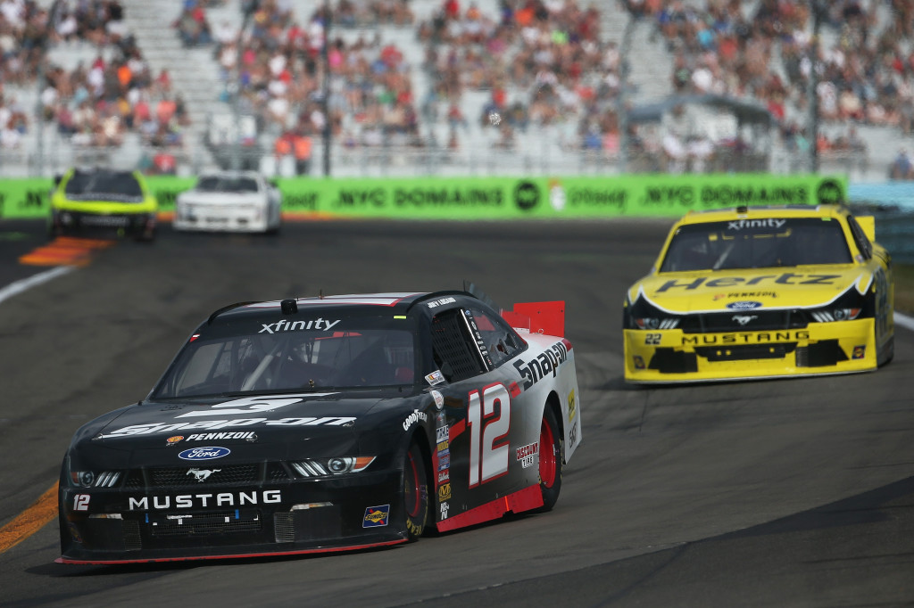 during the NASCAR XFINITY Series Zippo 200 at Watkins Glen International on August 8, 2015 in Watkins Glen, New York.