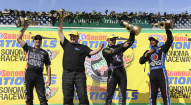 Brown Ties Big Daddy Don Garlits at Sonoma Taking 35th Top Fuel Win