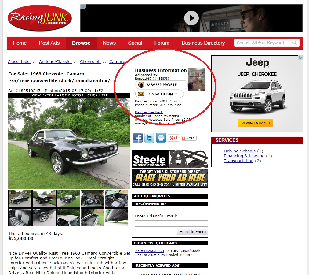 Listing Page Contact Seller 1