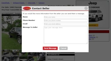 New Contact the Seller Feature on RacingJunk.com