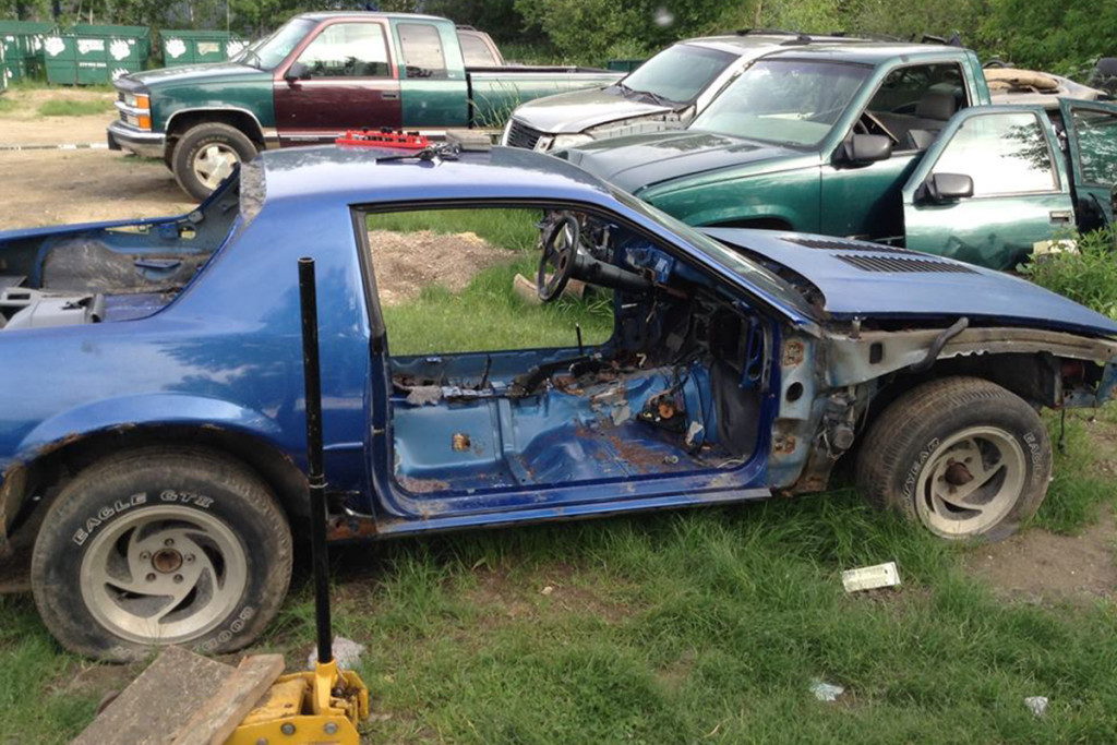 : Dan began by stripping off the parts he needed for his build car after he discovered the donor car was too far gone with rust to repair efficiently and safely.