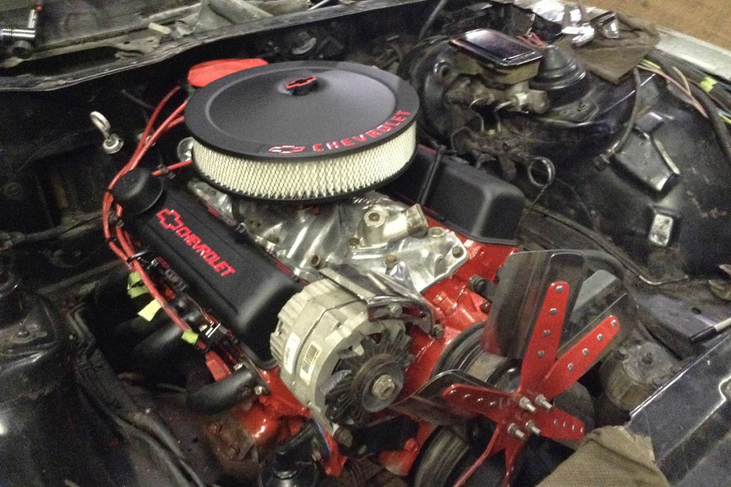 If the engine in either the donor or project car is in good condition, there's no need to rebuild or replace. Take a little time and effort to clean it up and then paint it. You can then either rebuild the left over engine or sell it to help pay for parts.