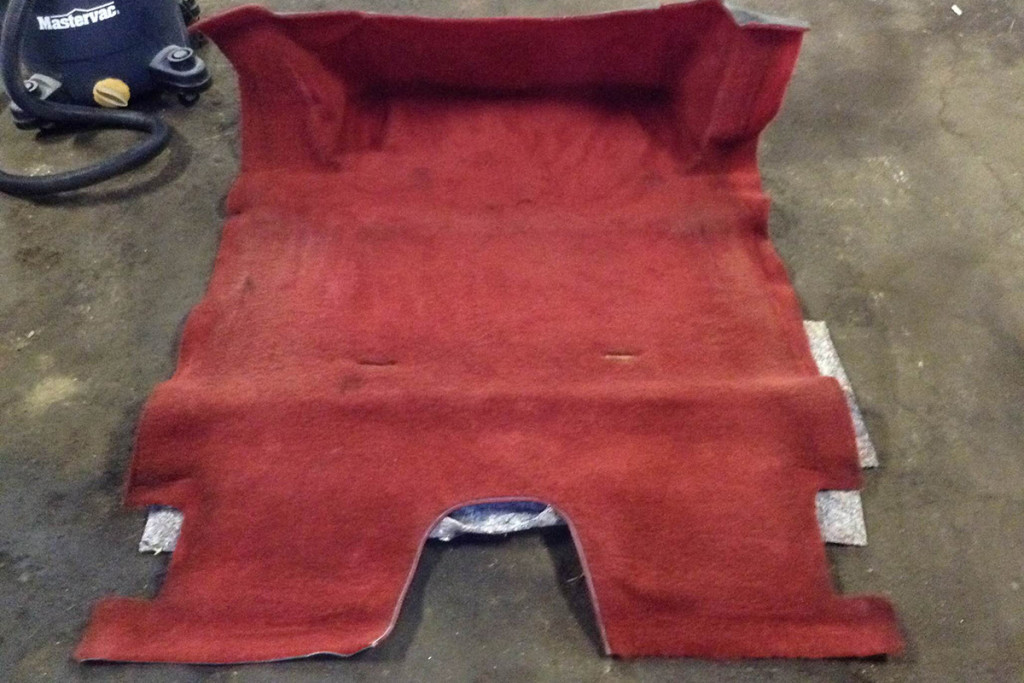 The carpet in the project car was ratty, so Dan replaced it with a molded carpet kit from Trim Parts.