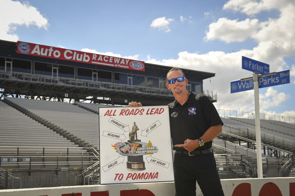Jack Beckman knows that all the NHRA Countdown points lead to Pomona as he heads the Funny Car pack going into Charlotte with a 30 point lead.