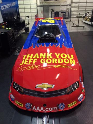 John Force Jeff Gordon Funny Car