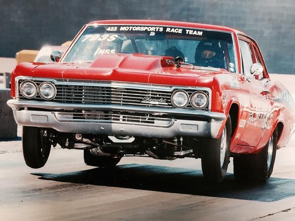 1966-Chevy-Biscayne, Trailer, Drag Car