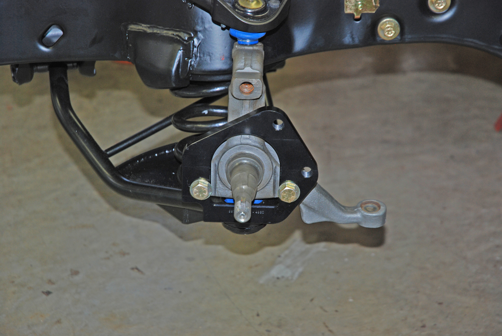 The first step in the brake setup is the base bracket install.  Baer provides Grade 8 fasteners for the job.