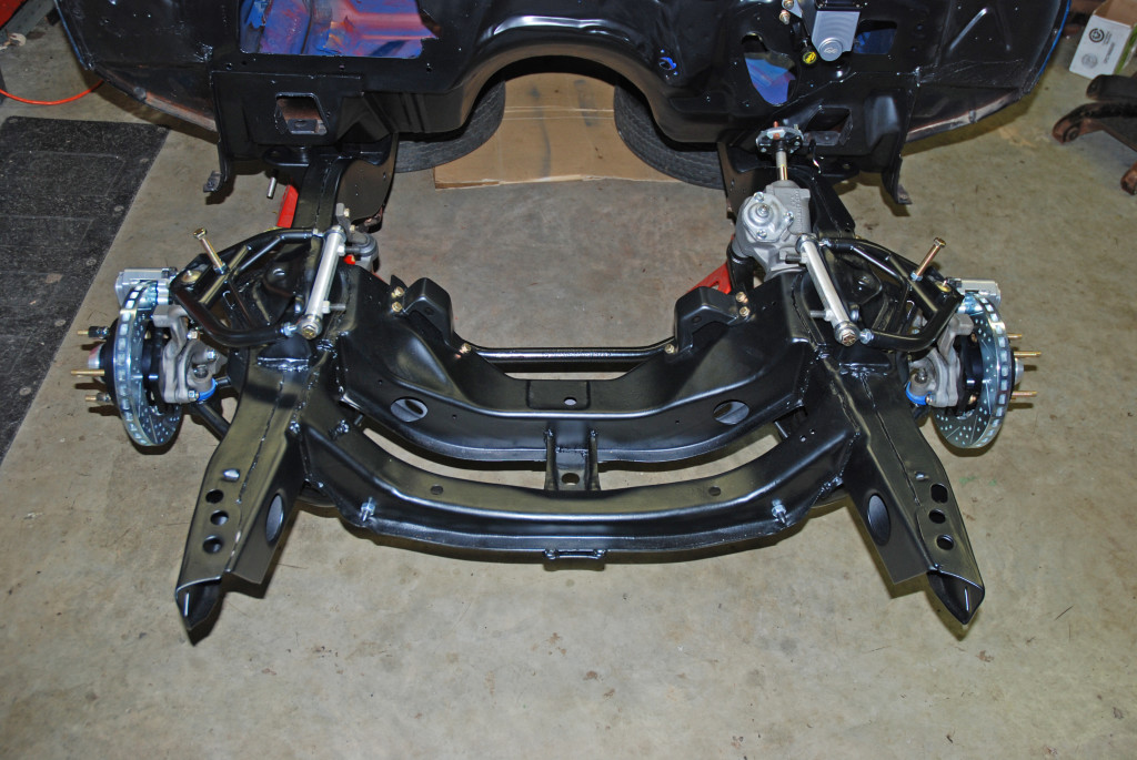 "Here's the finished ""Drag Duty"" subframe.  As you can see, we've come a long way from the grimy, crusty mess we started with (refer back to the first segment for a refresher!).  Best of all, anyone can copy this in the confines of their own garage."