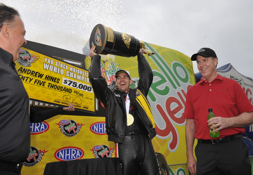 NHRA Mello Yello Drag Racing Series Andrew Hines