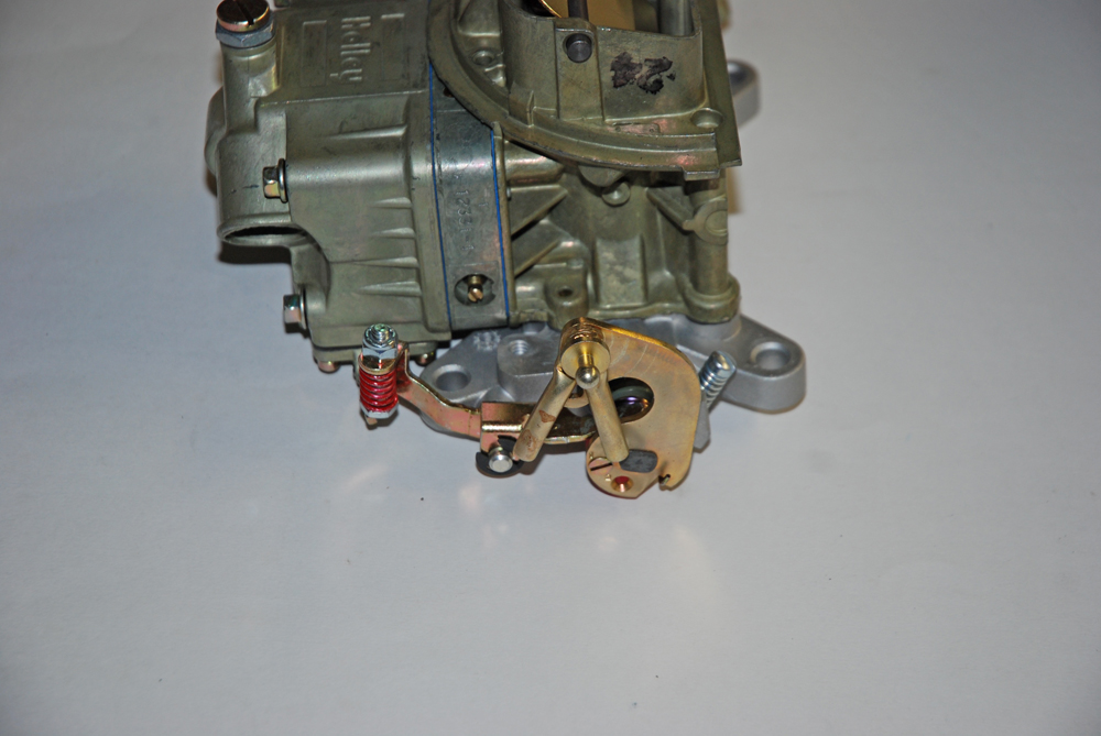 center carb simple linkage arrangement