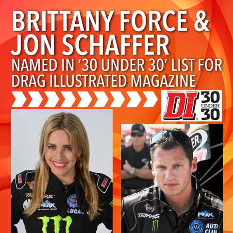 Brittany Force and Jon Shaffer