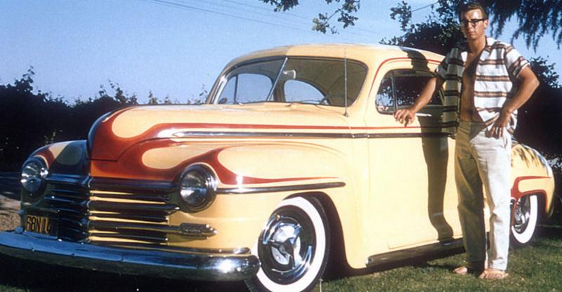Gary Meadors and his first hot rod - a 1947 Plymouth he customized at 16.  Photo: Goodguys Rod & Custom Association