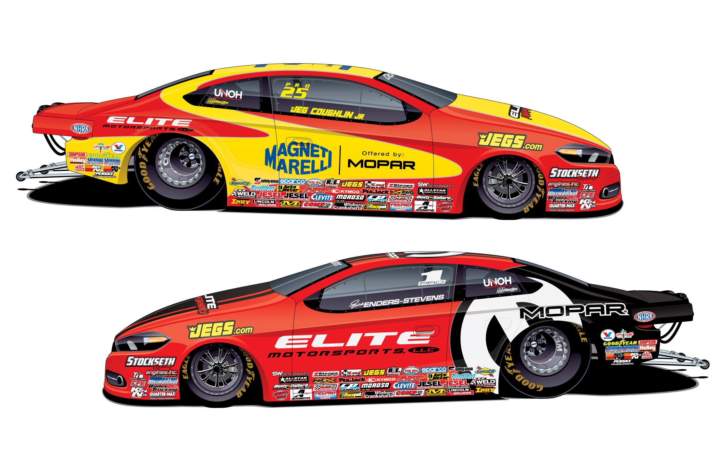 Mopar debuts 2016 nhra pro stock dodge dart gts for Stock car a couture 2015