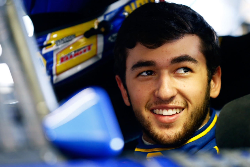 HAMPTON, GA - OCTOBER 29:  Chase Elliott, driver of the #25 Napa Auto Parts Chevrolet, sits in his car during testing for the NASCAR Sprint Cup Series at Atlanta Motor Speedway on October 29, 2015 in Hampton, Georgia.  (Photo by Daniel Shirey/NASCAR via Getty Images)