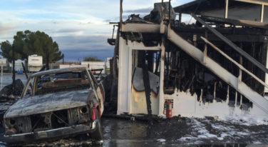 Fire at Famosa Raceway