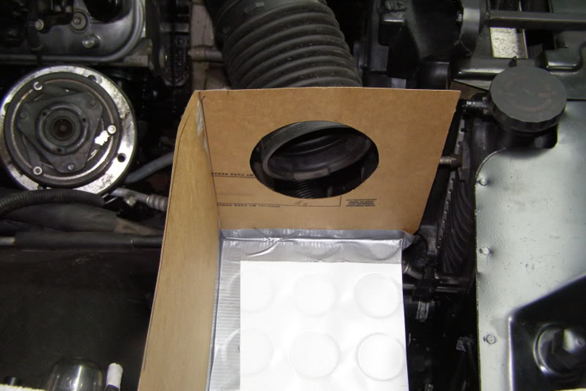 Dad And Brads 95 Chevy Ls Swap Racingjunk News Gm Fuel Filter Replacement They Had To Make Their Own Box For The Air Old Intake Shown Is Mockup Of Cold