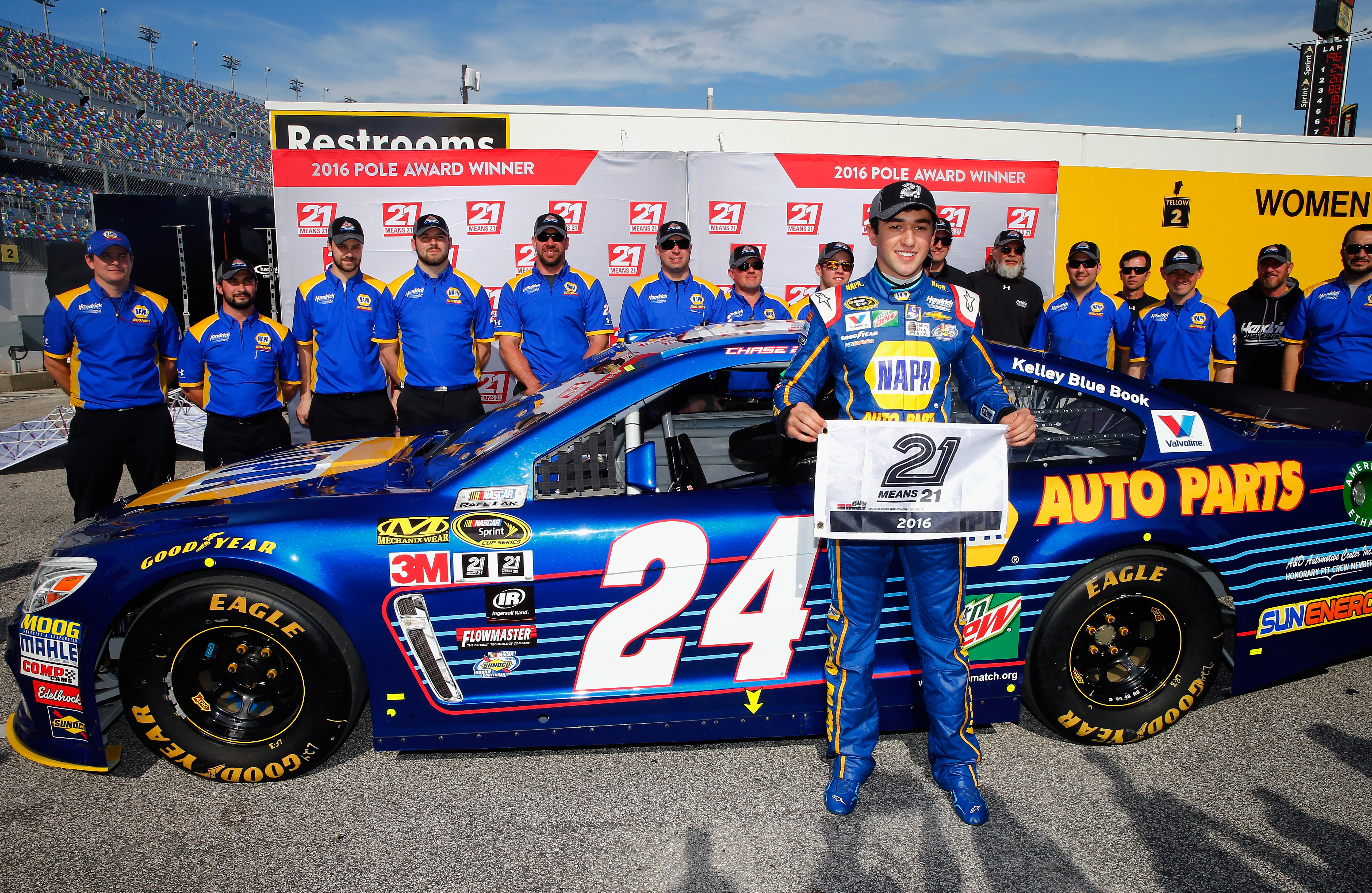 Chase Elliott Speeds to Daytona 500 Pole  RacingJunk News