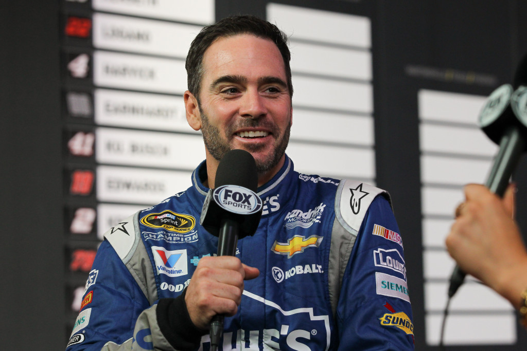 Jimmie Johnson at 2015 Media Day