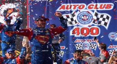 Jimmie Johnson's Superman Chevrolet Wins Auto Club 400
