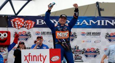 Kyle Busch Leads JGR Las Vegas Parade