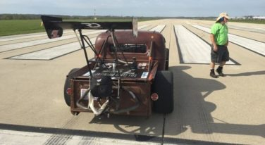 Aaron Browns 'Uncatchable' '39 Ford Truck is now Part of the 200 MPH Club