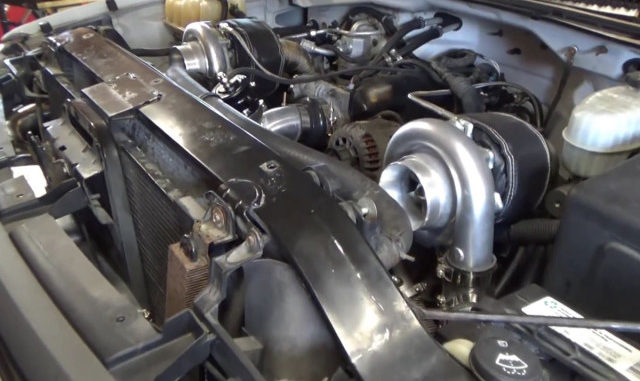 Justin Sane Twin Turbos a GMC 2500 HD with 6 0 LS Part 4