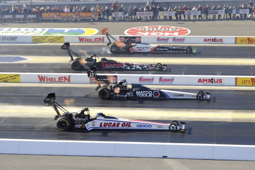 Four-Wide Nationals photo (credit NHRA)