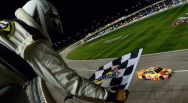 Kyle Busch Wins First Race at Kansas Speedway