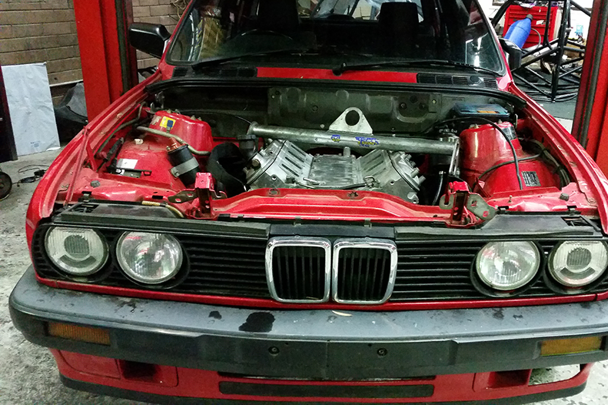 Bmw E30 Gets An Ls Swap Racingjunk News Fuel Filter When He Was Doing The Into His John Eifes Didnt Take Many Pictures But Ones Did Show Us Some Important Things About This Type