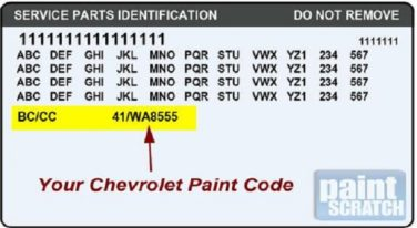Locating Your Vehicle's Paint Code